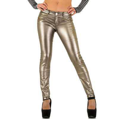 Skinny Jeans für Damen in Gold