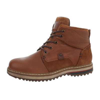 Schnürer Herren Leder Boots Camel