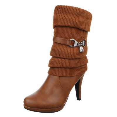 High Heel Stiefel für Damen in Camel