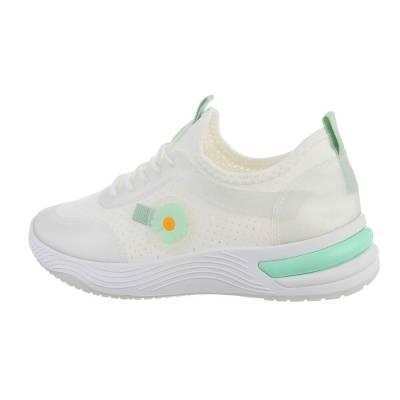 Sneakers low für Damen in Weiß und Grün