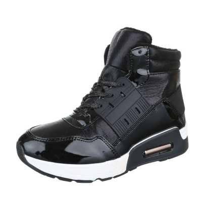 Sneakers high für Damen in Schwarz