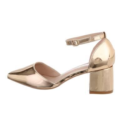 Schnür- & Riemchenpumps für Damen in Gold