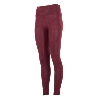 Leggings in Lederoptik für Damen in Rot