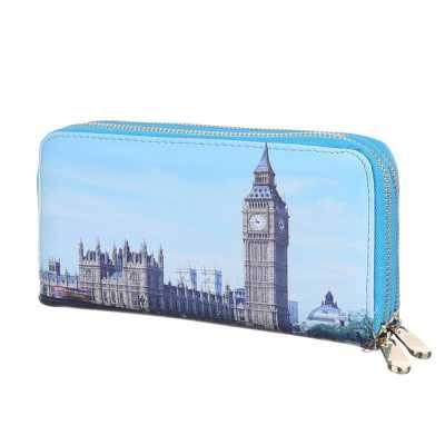Portemonnaie Damen Geldbörse Blau