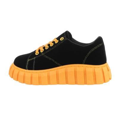 Sneakers Low für Damen in Schwarz und Orange