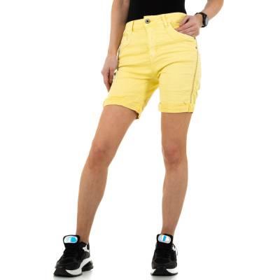 Jeansshorts für Damen in Gelb