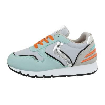 Sneakers low für Damen in Grün und Grau