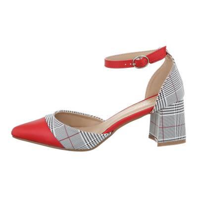 Schnür- & Riemchenpumps für Damen in Rot und Grau