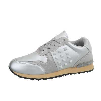 Sneakers low für Damen in Silber