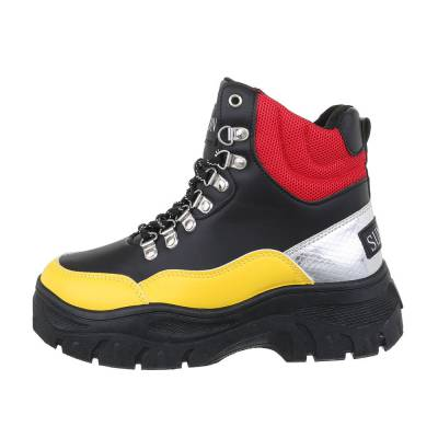 Sneakers high für Damen in Gelb und Schwarz