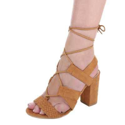 High Heel Sandaletten für Damen in Braun