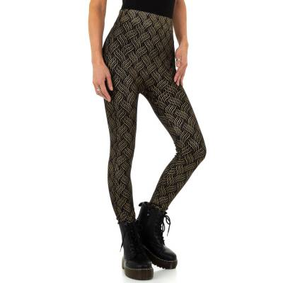 Thermo-Leggings für Damen in Schwarz