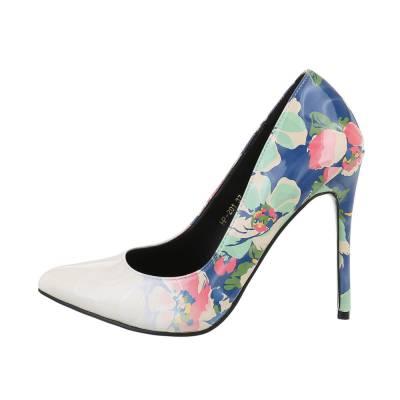 High Heel Pumps für Damen in Weiß und Blau