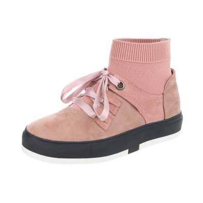 Sneakers high für Damen in Rosa
