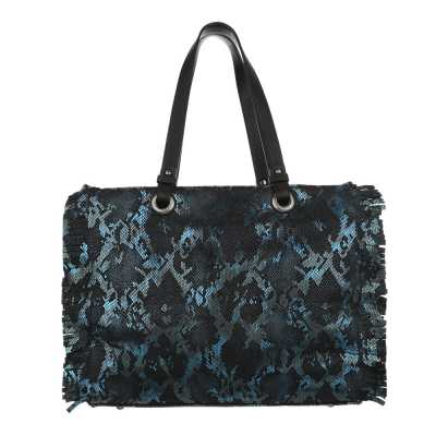 Große Damen Tasche Blau Multi