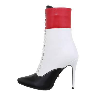 High Heel Stiefeletten für Damen in Schwarz und Weiß