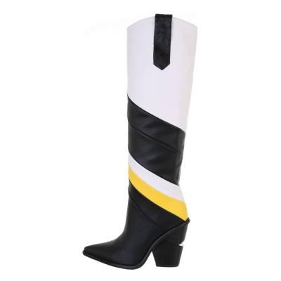 High Heel Stiefel für Damen in Schwarz und Weiß