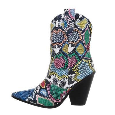 High Heel Stiefeletten für Damen in Mehrfarbig