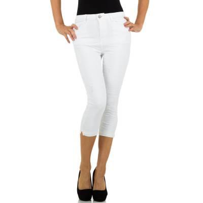 Capri-Jeans für Damen in Weiß