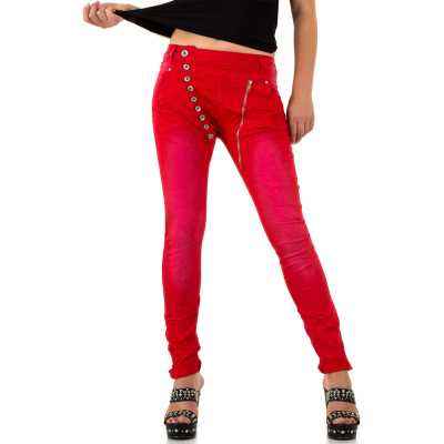 Skinny Jeans für Damen in Rot