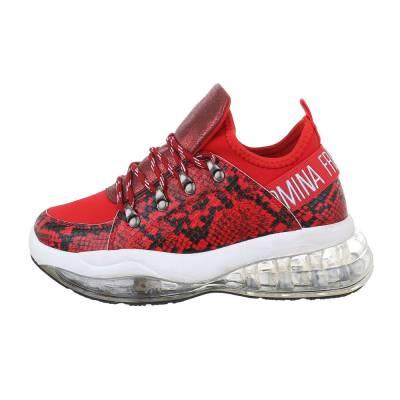 Sneakers low für Damen in Rot und Weiß