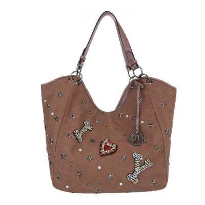 Große Damen Tasche Rosa Braun