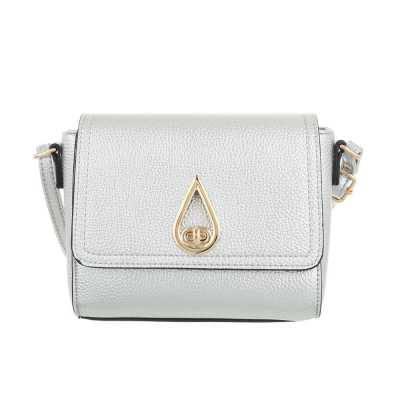 Sehr Kleine Damen Tasche Silber