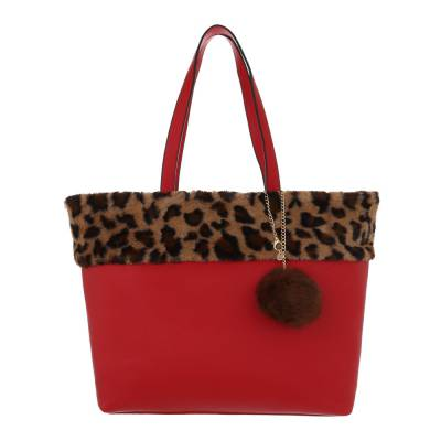 Mittelgroße Damen Tasche Rot Braun