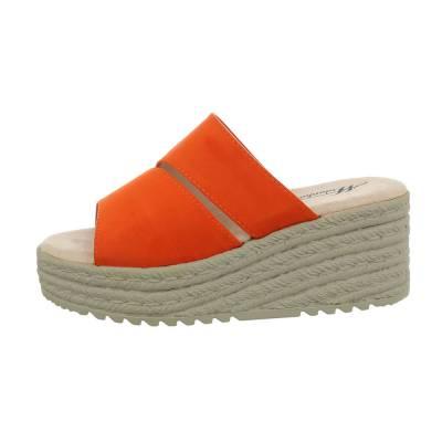 Keilsandaletten für Damen in Orange