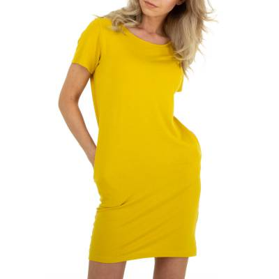 Stretchkleid für Damen in Gelb