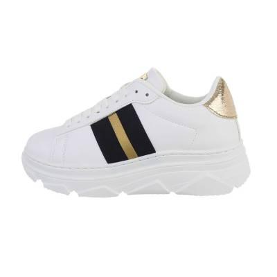 Sneakers low für Damen in Weiß und Gold