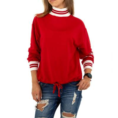 Sweatshirt für Damen in Rot