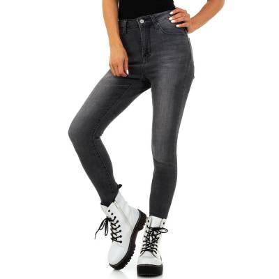 High Waist Jeans für Damen in Grau