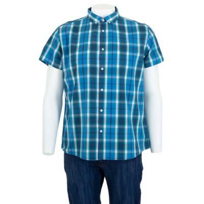 Hemd für Herren in Blau und Grün