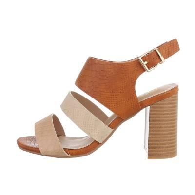 High Heel Sandaletten für Damen in Beige und Braun