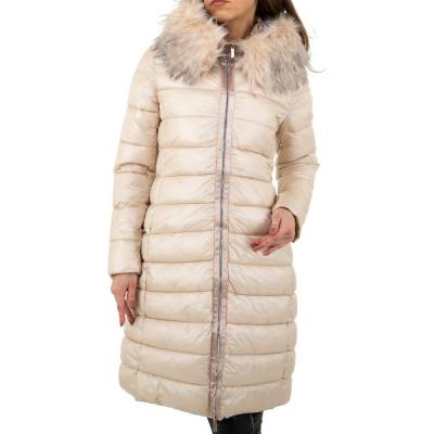 Wintermantel für Damen in Beige