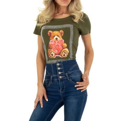 T-Shirt für Damen in Braun und Khaki