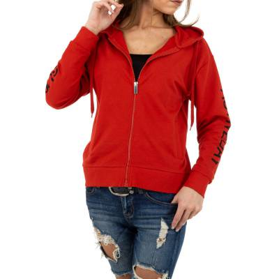 Sweatjacke für Damen in Rot