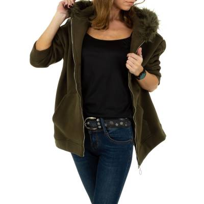 Sweatjacke für Damen in Braun