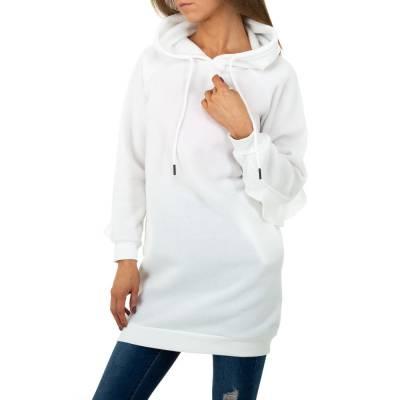 Longpullover für Damen in Weiß
