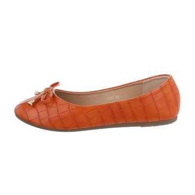 Klassische Ballerinas für Damen in Orange