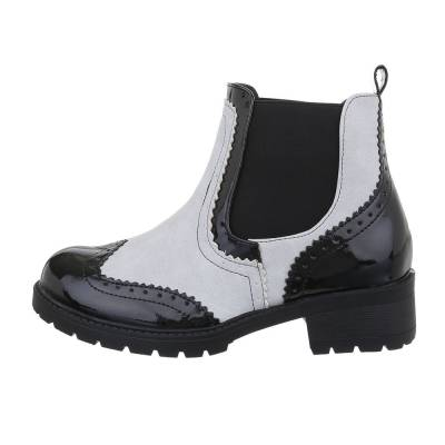 Chelsea Boots für Damen in Beige und Schwarz