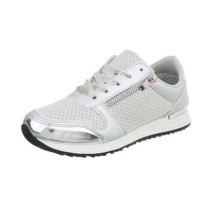 Sneakers low für Damen in Silber und Grau