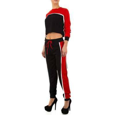 Jogging- & Freizeitanzug für Damen in Rot