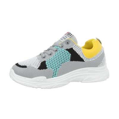Sneakers low für Damen in Gelb und Grau