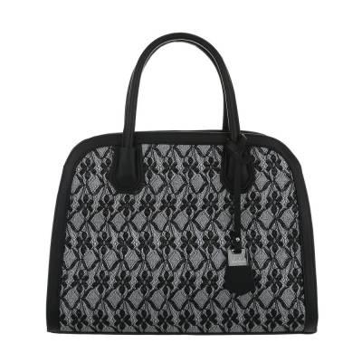 Mittelgroße Damen Tasche Schwarz Silber