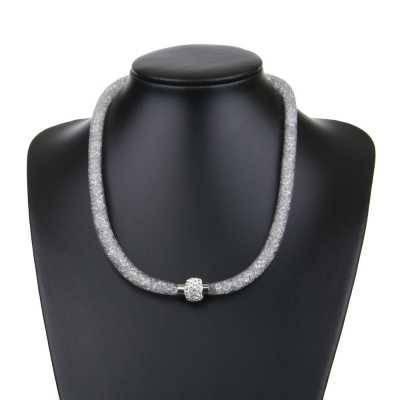Halskette für Damen in Grau