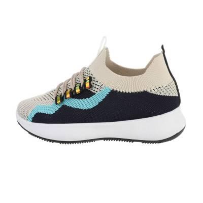 Sneakers low für Damen in Beige und Blau