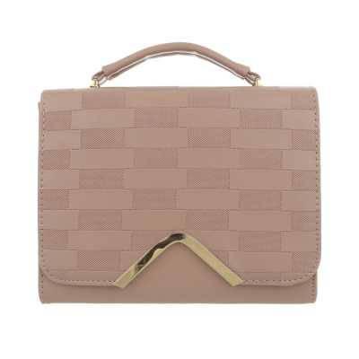 Handtasche für Damen in Beige und Rosa