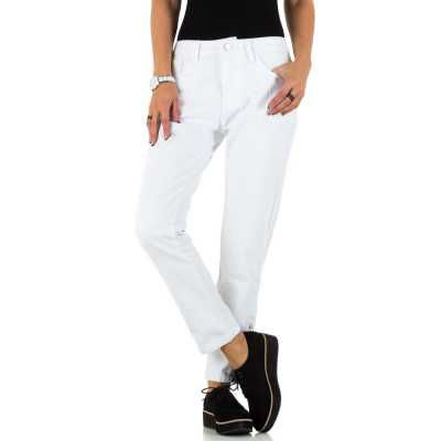 Relaxed Fit Jeans für Damen in Weiß